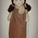 Handmade Plastic Bag Holder Doll - SOLD