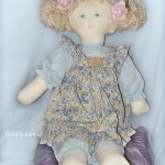 Rag Doll in Country Dress - SOLD
